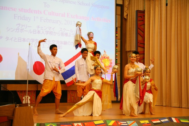 Thai Japanese cultural exchange students varee international school Thailand Chiangmai